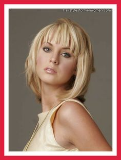 Hairstyles with Bangs and Layers for Fine Hair 19