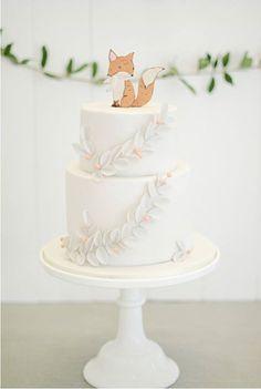 Baby Shower Fox Cake