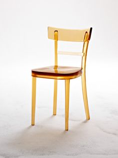 Rolf Sachs. 'spitting image' chair. 2008 / cast amber urethane resin / H 81 x W 42 x D 41cm / edition of 96