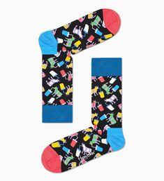 Cow Socks, Happy Socks, Barn, Unisex, Creative, Pattern, Cotton, Bodysuits, Computers