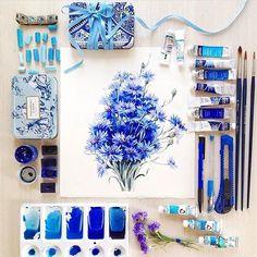 Watercolorist: @ihappygirl  #waterblog #акварель #aquarelle #painting #drawing #art #artist #artwork #painting #illustration #watercolor #aquarela