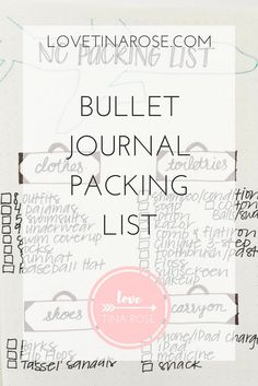 Are you looking for a packing list design for your bullet journal? Click through to see my Bullet Journal Packing List spread that's perfect for vacations!