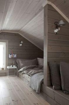 46 Exceptional Ideas for Attic Bedrooms - # Exceptional - Bed floor - Upstairs Bedroom, Sanctuary Bedroom, Home, Bedroom Interior, Luxurious Bedrooms, Bedroom Loft, Bedroom Furniture, Modern Bedroom, Small Bedroom