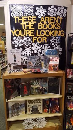 Star Wars book display - Ridgewood Public Library