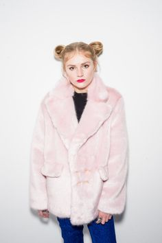 Pink Janice Double Breasted Coat by bombesurprise on Etsy