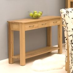 contempo oak console table