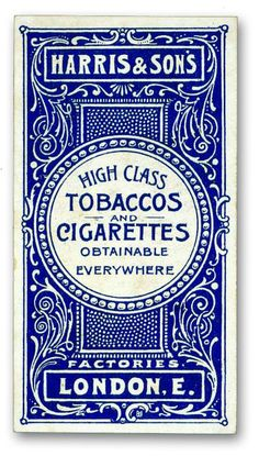 Layout and letters. Typographic poster design for Harris & Sons UK tobaccos & cigarettes, circa 1900 Vintage Packaging, Vintage Labels, Packaging Design, Vintage Branding, Fur Vintage, Vintage Type, Vintage Logos, Poster Art, Poster Design