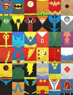 Logos of the DC Universe.