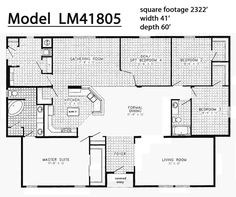 triple wide manufactured homes floor plans - Google Search