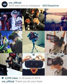 An awesome Virtual Reality pic! Our Top 9 from 2015! Thanks for all your support!! // Instagram podsumował nasz rok 2015! Dzięki za wasze wsparcie! #2015bestnine #2015bestnineinstagram #oculus #2015 #bestnine #vr #virtualreality #oculusrift #gearvr #Poland #Polska #2015bestninepoland by vre_official check us out: http://bit.ly/1KyLetq