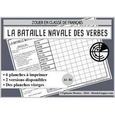 FLE/FLS - jeu - bataille navale des verbes