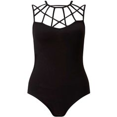 Miss Selfridge Black Lattice Strap Body ($35) ❤ liked on Polyvore featuring tops, body, black, jersey top, strappy tank, cotton tank tops, miss selfridge and spaghetti-strap top