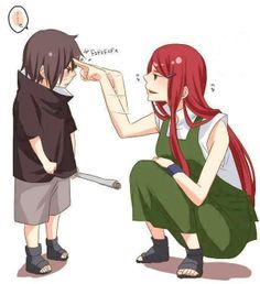 Kushina & Itachi --- hahahaha, is she the one who taught him that??? Bc that'd be just epically awesome XD