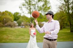 After wedding session - basketball theme inspired