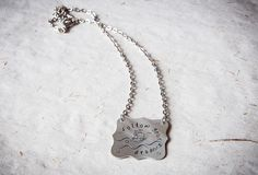 Motivational necklace with engraved quote sea by SilviaWithLove