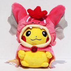 Pelucia Pokemon Pikachu Red Gyarados Cosplay