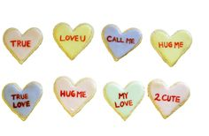 Conversation heart cookies -- much tastier than the candy variety and with an unlimited vocabulary