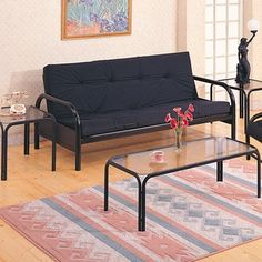 Medium image of black futon 162 00