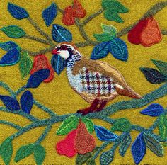 Bright Seed Textiles – Jane's tweed original pictures currently for sale - Bright Seed Textiles Bird Applique, Bird Embroidery, Wool Applique, Applique Ideas, Embroidery Ideas, Textiles, Wool Art, Bird Prints, Animal Prints