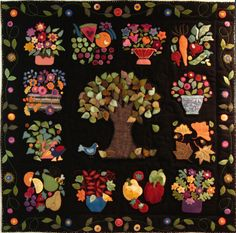 Harvest Quilt - Absolutely beautiful!  This would be beautiful in wools or cottons