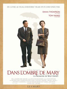 """Dans l'ombre de Mary - La promesse de Walt Disney est un film de John Lee Hancock avec Tom Hanks, Emma Thompson. Synopsis : Lorsque les filles de Walt Disney le supplient d'adapter au cinéma leur livre préféré, """"Mary Poppins"""", celui-ci leur f"""