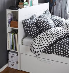 Finding enough storage for all your things can be a challenge. Our BRIMNES bedroom series is full of smart ideas to help, like four big drawers under the bed. Or shelves hiding inside the headboard. And everything comes in a classic look that you can enjoy for years.