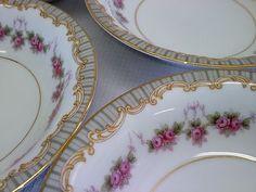 "Noritake China ""Ridgewood"" Set of 4 Small Bowls 5 1 2"" White Floral and Gold   eBay"