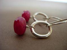 Red, red ruby earrings