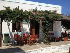 Mattheos Cafe in Bouka Kassos Places In Greece, Coffee Places, Crete Greece, Greece Travel, Greek Islands, Far Away, Pathways, Summertime, Places To Visit
