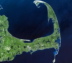 Cape Cod and Cape Cod Bay from space