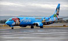 A Turma do Mickey, responsável por levar milhares de viajantes à Flórida, não foi esquecida pela Alaska (foto: Alaska Air Group)