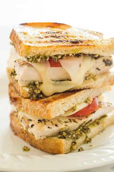 Pesto Chicken Sandwich on Sourdough | 12 Gloriously Cheesy Sandwiches You Need In Your Life