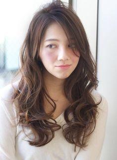 Pin on Hair style Pin on Hair style Hair Iron, Perm, Hair Highlights, Hair Goals, Hair Cuts, Hair Beauty, Make Up, Long Hair Styles, Asian Hairstyles