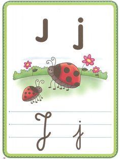 abecedario, letras, fichas lengua, lectura, leer Alphabet Writing, Teaching The Alphabet, Alphabet Activities, Diy And Crafts, Homeschool, Letters, Education, Sites, Professor