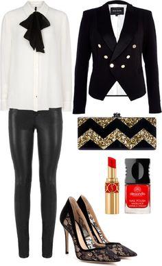 Holiday style : tuxedo + lace