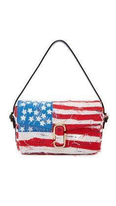 Marc Jacobs J Marc Distressed American Flag Shoulder Bag