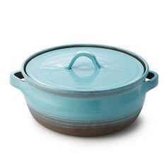 Cyan Casserole Dish | ceramic cookware, casserole dish, bakeware | UncommonGoods