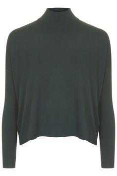 Long Sleeve Crepe Polo Top