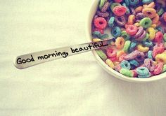 What a great way to wake up your kids - a good morning message written on a plastic spoon!