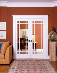 Interior French Doors in Prairie Style, could be for kitchen to garden room