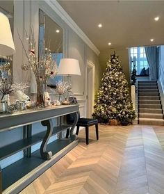 172 awesome winter decoration ideas you have to try at your home - page 16 ~ Modern House Design Living Room Designs, Living Room Decor, Interior Modern, Interior Design, Flur Design, Glam House, Hallway Designs, Hallway Ideas, Inspire Me Home Decor