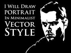 draw portrait in minimalist vector style by dakozz