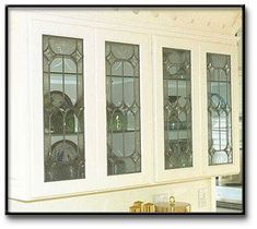 Impressive Stained Glass Cabinet Doors Model