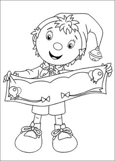 Noddy Coloring Pages 10