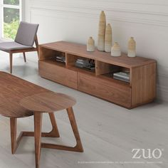 living room end table coffee table // Zuo Park West Side Table Walnut