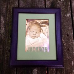 Personalized Baby Frame with Custom Matting Black by WoodBeeLove, $30.00