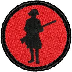 """Retro Red and Black Rifleman Patrol Patch - 2"""" Round Patc... https://www.amazon.com/dp/B019NPXL8K/ref=cm_sw_r_pi_dp_t7TyxbWNZ8MF5"""