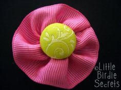 DIY how to make ribbon flowers