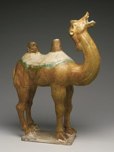 A 'SANCAI'-GLAZED POTTERY FIGURE OF A CAMEL<br>TANG DYNASTY   lot   Sotheby's