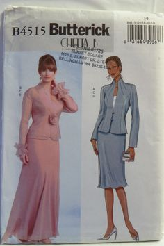 Butterick 4515 Misses'/Misses' Petite Jacket, Top and Skirt